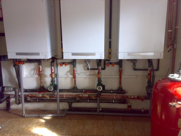 Montaj centrale termice prin condensare inseriate